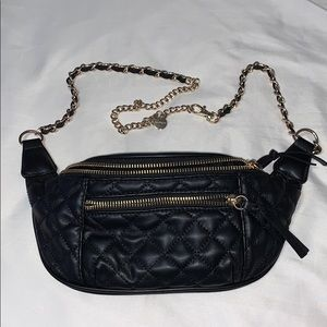 Express Chain Strap Quilted Fanny Pack 💕